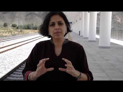 Suhasini at the Shigatse rail terminal