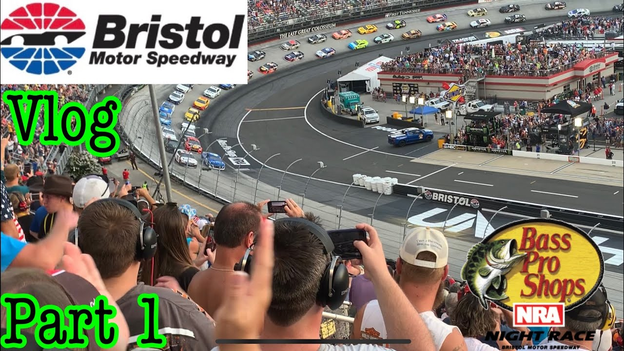 Nascar Cup series Bristol night race Vlog part 1