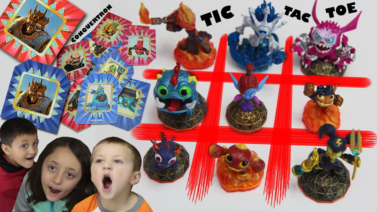 Skylanders Tic Tac Toe + FREE Conquertron Skystones Card (Sky Kids Exclusive Trap Team Fun!)