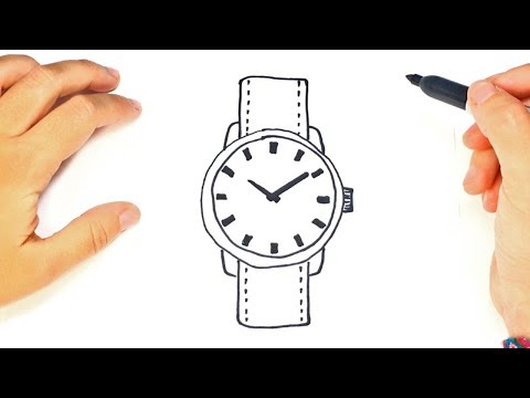 How To Draw A Wristwatch Step By Step Drawings Tutorials Youtube