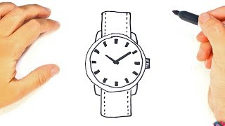 How to draw a Wristwatch Step by Step | Drawings Tutorials