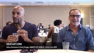 Henry Simmons & Clark Gregg AGENTS OF SHIELD Interview Comic Con 2016