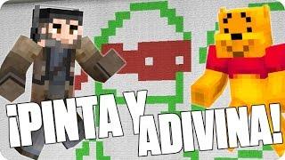 ¡EL DIBUJO LEGENDARIO! ¡Pinta y Adivina! | Minecraft con Luh