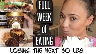 Full Week of Eating   Losing the next 30 lbs