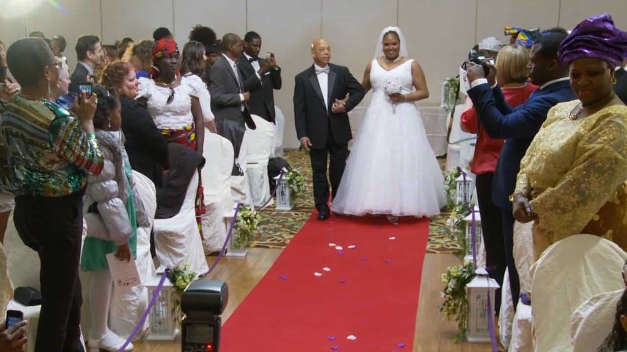 Bridal Party, Bride, & Groom Walk Down The Aisle