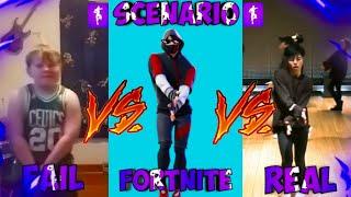 FORTNITE SCENARIO VS REAL VS FAIL #32
