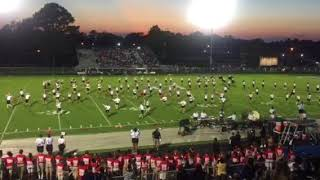 The Havelock High School Marching Rams perform their first movement...