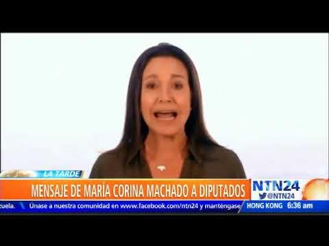 María Corina Machado exige a la AN asumir presidencia de Venezuela el 10 de enero