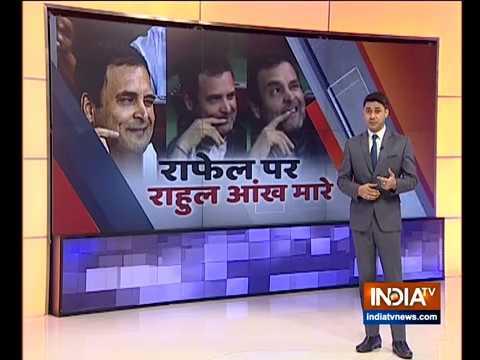 Rahul Gandhi does it again, winks in Parliament during Rafale debate