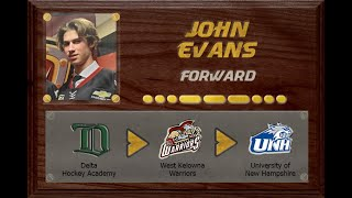 John Evans - CSSHL to BCHL to NCAA D1 | Stand Out Sports Client Hall of Fame
