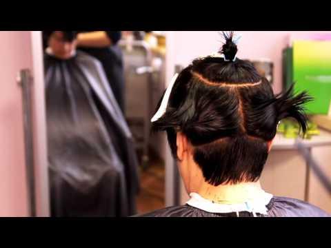 Короткая женская стрижка на прямых непослушных волосах