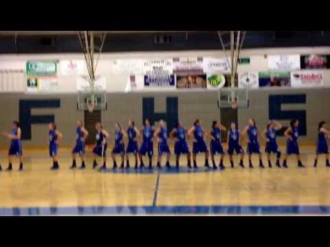 Fremont girls basketball flash mob