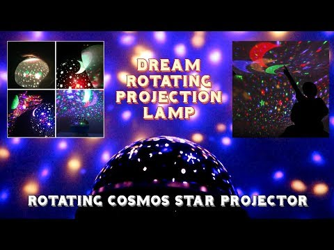 Night Lights Dream Rotating Projection Lamp | Rotating Cosmos Star Projector