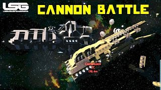 Space Engineers - Mega Cannon Battle
