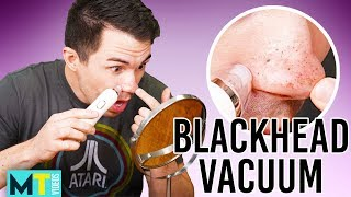 Men Try the Best Rated Blackhead Vacuum on Amazon