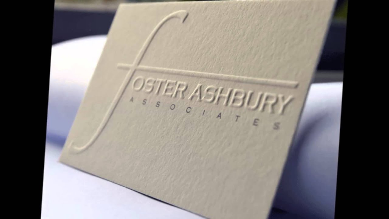 Embossed business cards from The Print Warehouse - YouTube
