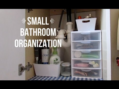 Small Bathroom Organization