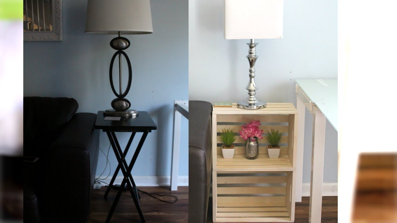 Diy End Tables No Tools Easy How To Crates