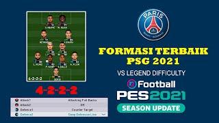 FORMASI TERBAIK PSG PES 2021 - DYNAMIC ATTACKING