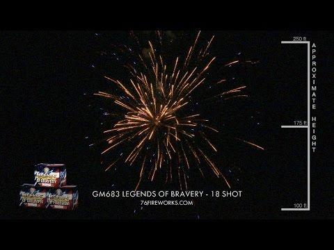 0d75ccea5ca33d Legends Fireworks - 18 Shot Assorted - YouTube
