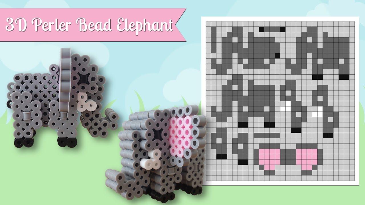 how to make a cute perler bead 3d elephant youtube