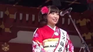 2016ミス鎌倉 清水美里さんのご挨拶です。
