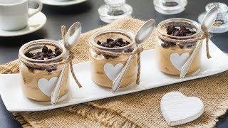 Crema Al Caffe In Barattolo Con Crumble Al Cacao Ricetta Dolce In Bicchiere 55Winston55