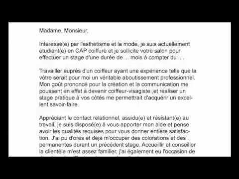 Cv Pour Apprentissage Coiffure Youtube