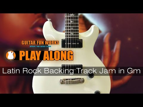 Latin Rock Backing Track Jam in Gm
