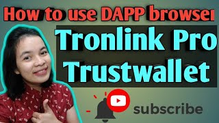 How To Use DAPP BROWSER On Tronlink Pro And Trustwallet