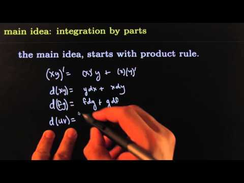 Integrate  By Parts Main Idea HD