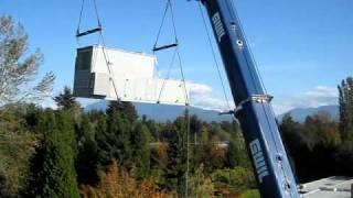 Air Handling Unit gets craned …