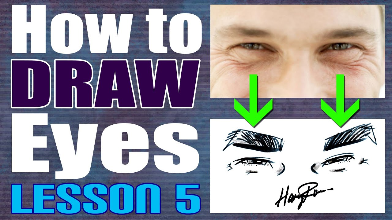 How To Draw Eyes For Caricatures Lesson 5