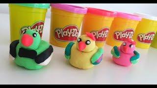 Play Doh Oyun Hamuru ile Renkli Ördek Yapımı, Learn Colors with Finger, Johny Johny Yes Papa