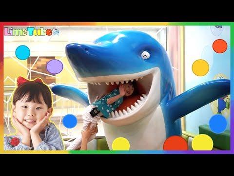 라임이의 뽀로로 키즈카페 테마파크 어린이 놀이터 상어 공풀 |Pororo Indoor Playground Fun for Kids | LimeTube & Toy 라임튜브