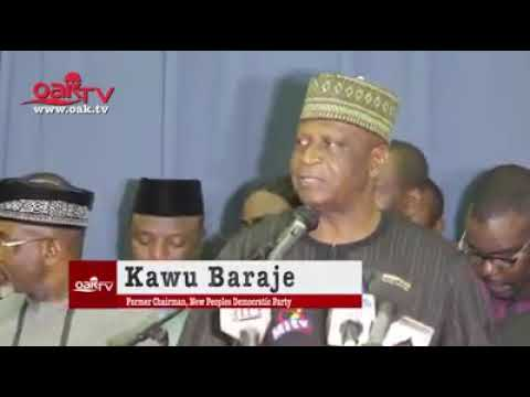 Watch The Moment nPDP Chair, Baraje, Returned To PDP (Video)