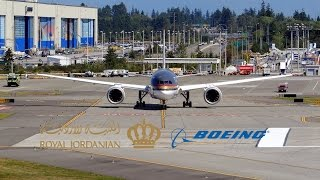 Paine Field Spotting: Royal Jordanian Boeing 787-8 Dreamliner Takeoff
