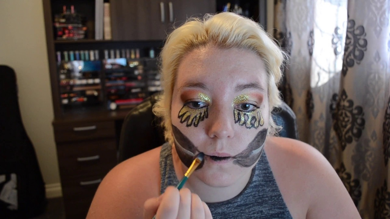 Gold teardrop sparkle skull candy makeup tutorial youtube gold teardrop sparkle skull candy makeup tutorial baditri Image collections