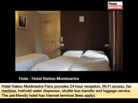 Hotel Nation Montmartre | A Paris Hotel With Picture Collection And Info