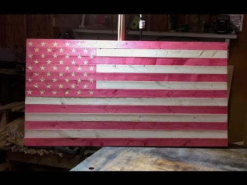 Breast Cancer Awareness Pink American Flag