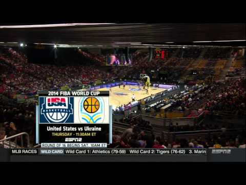Men Basketball 2014 USA VS Dominican Republic 1st Half HD