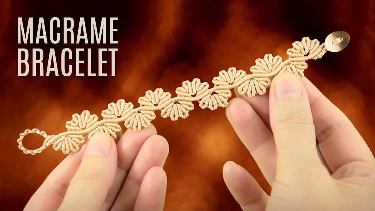 Wavy Flower Lace Bracelet Demo Macrame School Youtube