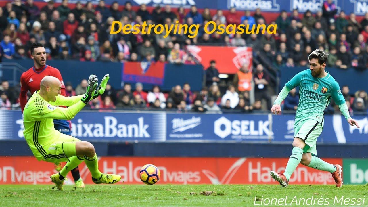 Lionel Messi vs Osasuna (2004-2019)