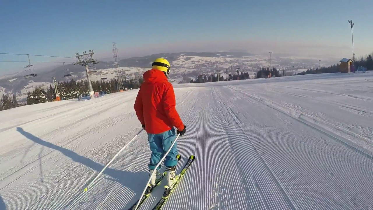 Ski carving slow motion hd youtube