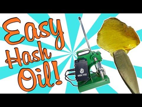 HOW TO EASILY MAKE HASH OIL/ROSIN (High5 Rosin Press Review)