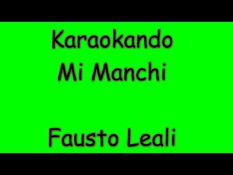 Karaoke Italiano - Mi Manchi - Fausto Leali ( Testo )