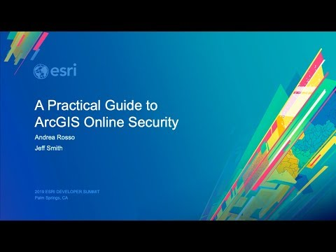 A Practical Guide to ArcGIS Online Security