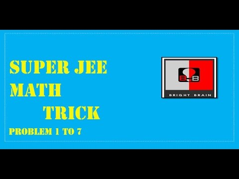 JEE Mains Trick Maths Problem , Learn cheat code to solve problems ...