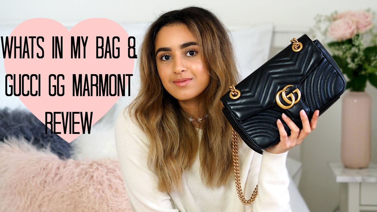 82bde0d36248 WHATS IN MY BAG | GUCCI GG MARMONT | REVIEW - YouTube