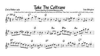 """Chris Potter - """"Take The Coltrane"""" (transcription)"""